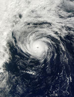 Hurricane Humberto southeast of Nova Scotia, Canada