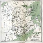 Mapa de Nuevo Brunswick, Canadá 1873