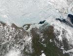 Río Mackenzie y Bahía Mackenzie, norte de Canadá