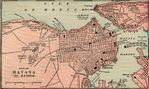 Mapa del Puerto de La Havana, Cuba 1901