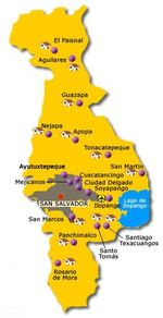San Salvador Departamento Map, El Salvador
