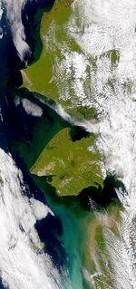 Satellite Image, Photo of Caroní River and Guri Reservoir, Venezuela