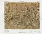 Gettysburg National Military Park Shaded Relief Map, Pennsylvania, United States