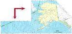 Mapa del Estado de Alaska, Estados Unidos