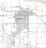 Safford Topographic City Map, Arizona, United States