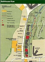 Bathhouse Row Map, Hot Springs National Park, Arkansas, United States