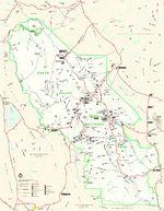Mapa de la Región de Srinagar, Cachemira 1959
