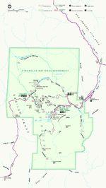 Mapa del Parque Monumento Nacional Pinnacles, California, Estados Unidos