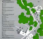 Mapa-Esquema del Recorrido del Sitio Histórico Nacional la Casa de Carl Sandburg, Carolina del Norte, Estados Unidos
