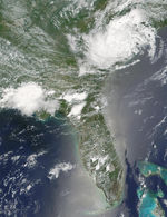 Remnants of Tropical Storm Allison over Southeast United States