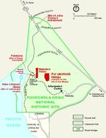 Puukohola Heiau National Historic Site Map, Hawaii, United States