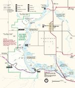 Park Map of Hagerman Fossil Beds National Monument, Idaho, United States