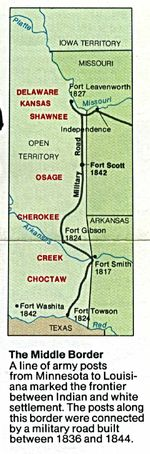 Area Map of Fort Scott National Historic Site, Kansas, United States