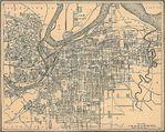 Mapa de la Ciudad de Kansas, Kansas y Missouri 1907
