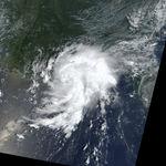 Ciclón tropical Bertha en el golfo de México