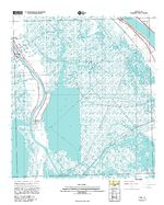 Prototipo de Mapa Topográfico de Lafitte, Luisiana, Estados Unidos, Septiembre 12, 2005