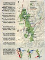 Park Map and Battle Maps from Antietam National Battlefield, Maryland, United States