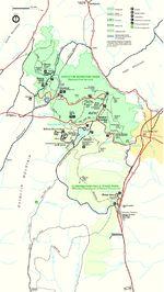Mapa del Parque de Montaña Catoctin, Maryland, Estados Unidos