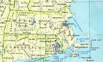 Mapa del Estado de Massachusetts, Estados Unidos