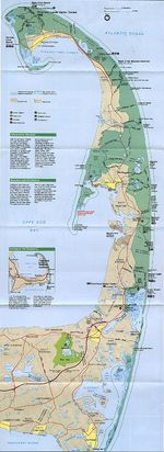 Cape Cod National Seashore Park Map, Massachusetts, United States
