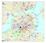 Boston Historical Map, Massachusetts, United States
