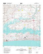 Prototipo de Mapa Topográfico de Biloxi, Misisipi, Estados Unidos, Septiembre 12, 2005