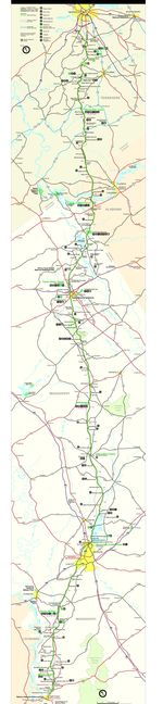 Natchez Trace Parkway National Scenic Trail Map, Mississippi, Alabama, and Tennessee, United States