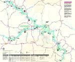 Mapa del Parque Río Escénico Nacional Ozark, Missouri, Estados Unidos