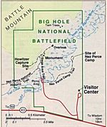 Park Map of Big Hole National Battlefield, Montana, United States