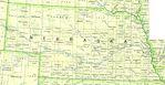 Mapa del Estado de Nebraska, Estados Unidos