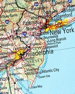 New Jersey Shaded Relief Map, United States