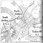 Map of Perth Amboy and South Amboy, New Jersey with Tottenville, New York 1920