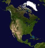North America satellite map