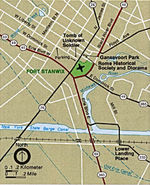 Area Map of Fort Stanwix National Monument, New York, United States