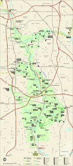 Mapa del Parque del Área Nacional de Recreación de Cuyahoga Valle, Ohio, Estados Unidos