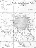 Mapa del Parque Nacional Crater Lake, Oregón, Estados Unidos 1917