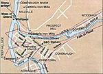 Johnstown Flood Path Map, Pennsylvania, United States