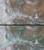 Picos cubiertos de nieve de las montañas Wasatch y Uinta