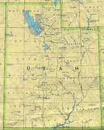 Mapa del Estado de Utah, Estados Unidos
