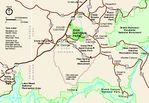 Mapa-Esquema del Campo de Batalla Nacional Fort Donelson, Tennessee, Estados Unidos