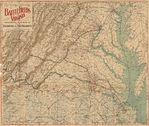 Virginia Civil War Battlefields Map 1891