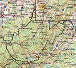 Mapa de Relieve Sombreado de Virginia Occidental, Estados Unidos