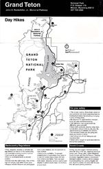 Day Hikes Map, Grand Teton National Park, Wisconsin, United States