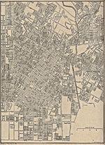 Mapa de la Ciudad de Los Angeles (Centro), California, Estados Unidos 1917