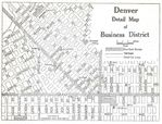 Business District Map, Denver, Colorado, United States 1920
