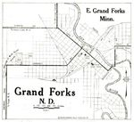 Mapa de la Ciudad de Grand Forks, Dakota del Norte, Estados Unidos 1920
