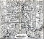 Mapa de la Ciudad de Baltimore, Maryland, Estados Unidos 1848