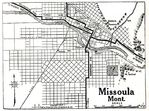 Missoula City Map, Montana, United States 1917
