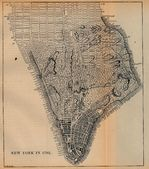 New York City Map, New York, United States 1782