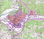 Athens Topographic City Map, Ohio, United States